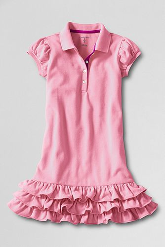 Girls%27+Short+Sleeve+Tiered+Polo+Dress