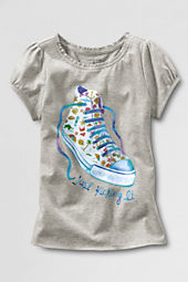 Little Girls' Short Sleeve Sneaker Graphic T-shirt