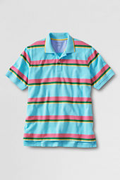 Men's Short Sleeve Stripe Mesh Polo Shirt
