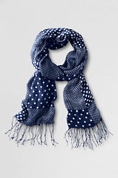 Girls' Print Mix Gauze Scarf