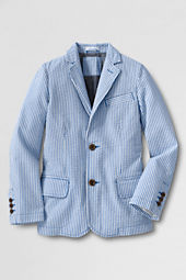 Boys' Washed Seersucker Blazer