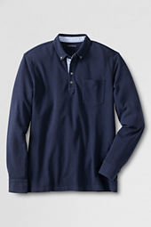 Men's Supima Pique Long Sleeve Polo Shirt