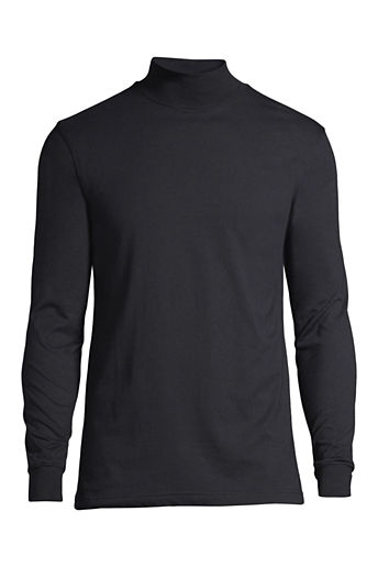 Men's Regular Super-T Mock Turtleneck - Black, S