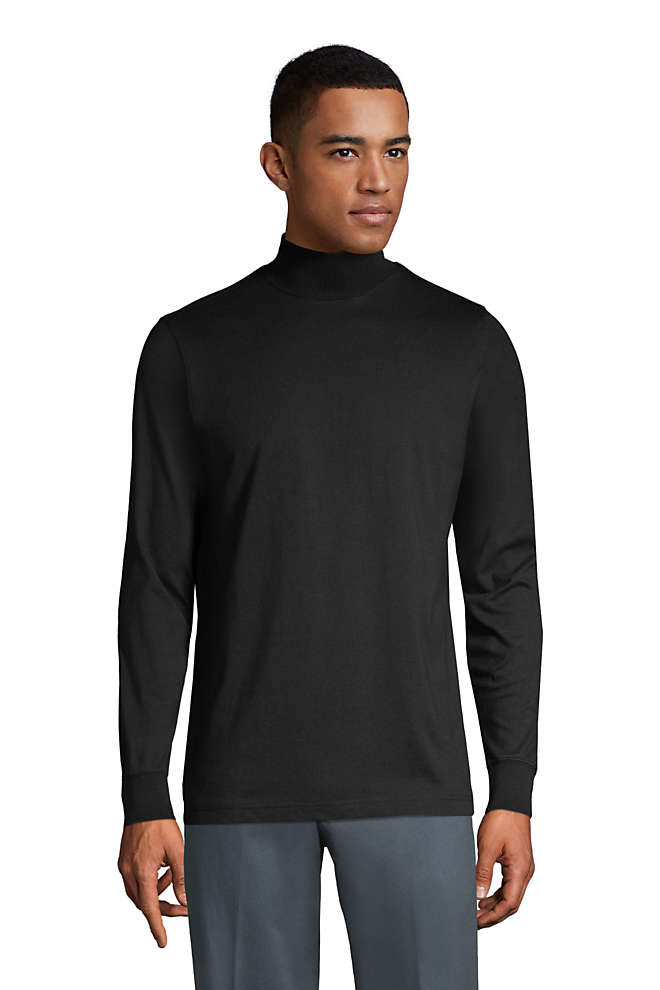 Men's Tall Super-T Mock Turtleneck, Front