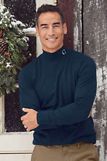 Men's Tall Super-T Mock Turtleneck, alternative image