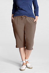 Women's Plus Size Cotton Spandex Terry Capris