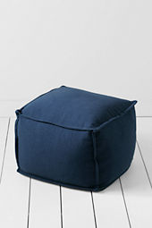 Four Square Denim Ottoman