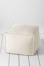 Four Square Textured Cotton Ottoman