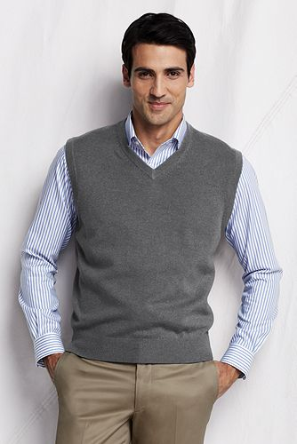Cashmere Sweater Vest 421220: Pewter Heater