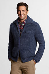 Men's Zip-front Wool Shaker Jacket