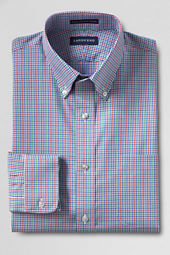 Men's Tailored Fit Pattern No Iron Supima Pinpoint Buttondown Dress Shirt