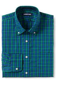 Men's Tall Tailored Fit Pattern No Iron Supima Pinpoint Buttondown Collar Dress Shirt