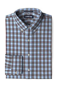 Men's Tall Tailored Fit Pattern No Iron Supima Pinpoint Buttondown Collar Dress Shirt