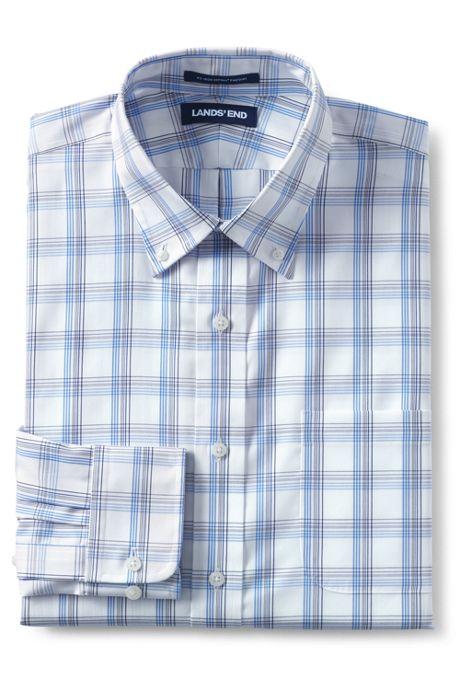 Men's Long Sleeve Pattern Traditional No Iron Pinpoint Buttondown Shirt