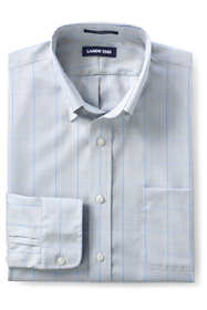 Men's Slim Fit Pattern No Iron Supima Pinpoint Buttondown Collar Dress Shirt