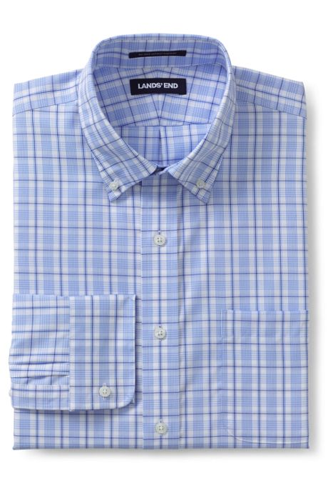 Men's Tailored Fit Pattern Supima No Iron Pinpoint Buttondown Collar
