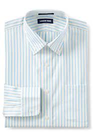 Men's Tailored Fit Pattern No Iron Supima Pinpoint Buttondown Collar Dress Shirt