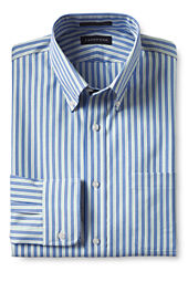 Men's Traditional Fit Pattern No Iron Supima Pinpoint Buttondown Dress Shirt