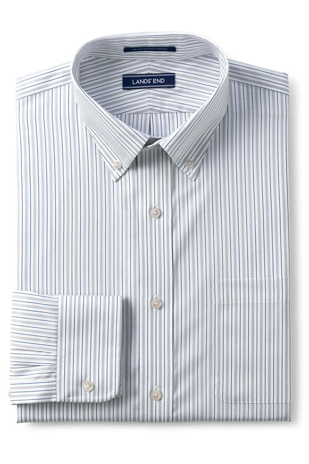 6bac59ba1a7 Men s Traditional Fit Pattern No Iron Supima Pinpoint Buttondown Collar  Dress Shirt