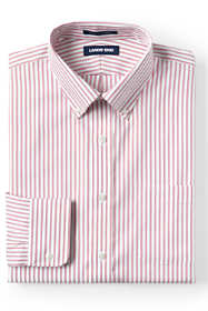 Men's Traditional Fit Pattern No Iron Supima Pinpoint Buttondown Collar Dress Shirt