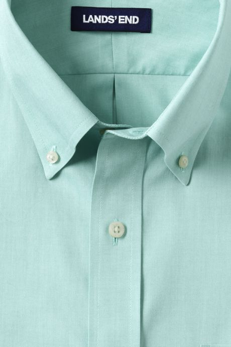 Men's Tall Tailored Fit Solid No Iron Supima Pinpoint Buttondown Collar Dress Shirt