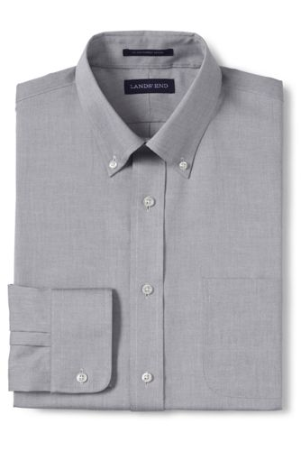 Men's Regular Traditional Fit Easy-iron Button-down Collar Pinpoint Shirt