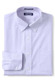 Men's Tailored Fit Solid No Iron Supima Pinpoint Buttondown Collar Dress Shirt