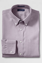 Men's Traditional Fit Solid No Iron Supima Pinpoint Buttondown Dress Shirt
