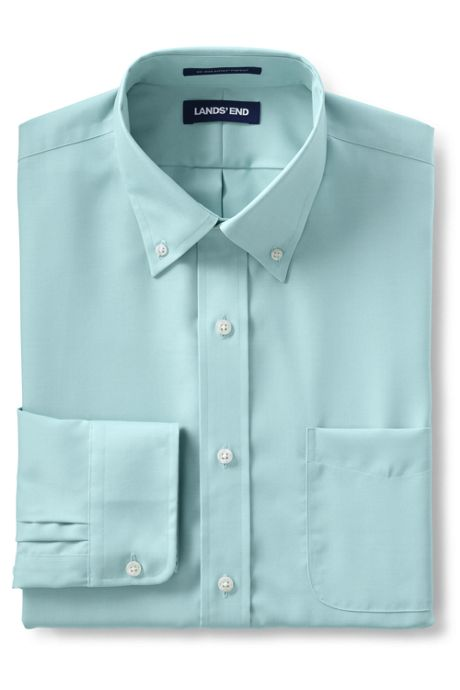 Men's Solid No Iron Supima Pinpoint Buttondown Collar