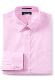 Men's Slim Fit Solid No Iron Supima Pinpoint Buttondown Collar Dress Shirt