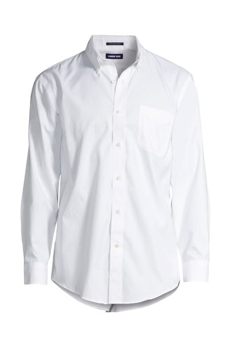 Men's Tailored Fit Solid Supima No Iron Pinpoint Buttondown Collar