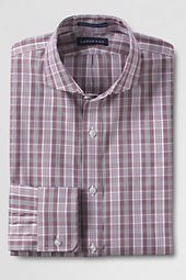 Men's Tailored Fit Pattern No Iron Pinpoint Cutaway Collar Dress Shirt