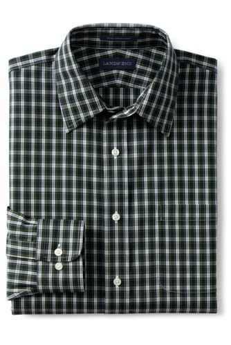 Men's Pattern No Iron Supima Pinpoint Straight Collar from ... - photo #6