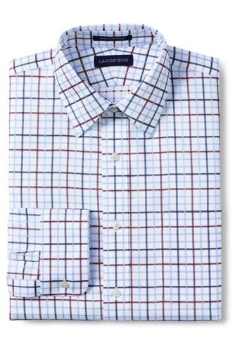 Men's Pattern No Iron Supima Pinpoint Straight Collar from ... - photo #9