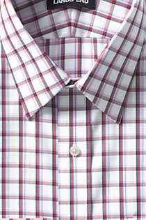 Men's Traditional Fit Pattern No Iron Supima Pinpoint Straight Collar Dress Shirt, Unknown