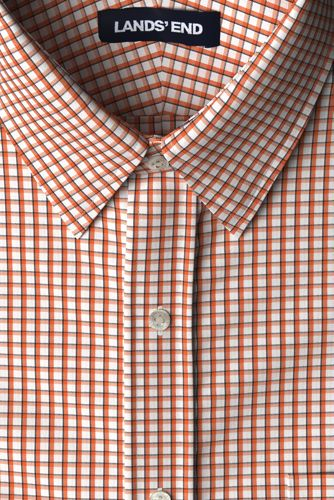 Men's Tailored Fit Easy-iron Straight Collar Pinpoint Shirt