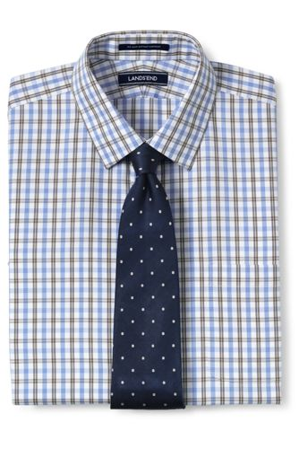 Men's Pattern No Iron Supima Pinpoint Straight Collar from ... - photo #5