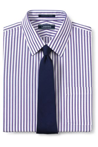 Men's Pattern No Iron Supima Pinpoint Straight Collar from ... - photo #2
