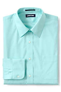 Men's Traditional Fit Solid No Iron Supima Pinpoint Straight Collar Dress Shirt, Front