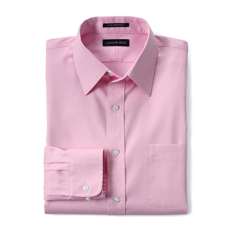 Lands' End Men's Traditional Fit Solid No Iron Supima Pinpoint Straight Collar Dress Shirt at Sears.com
