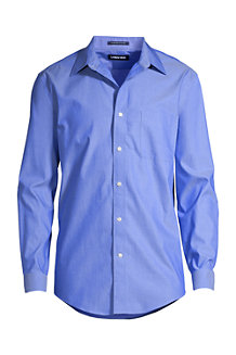 Men's Straight Collar Easy-iron Pinpoint Shirt