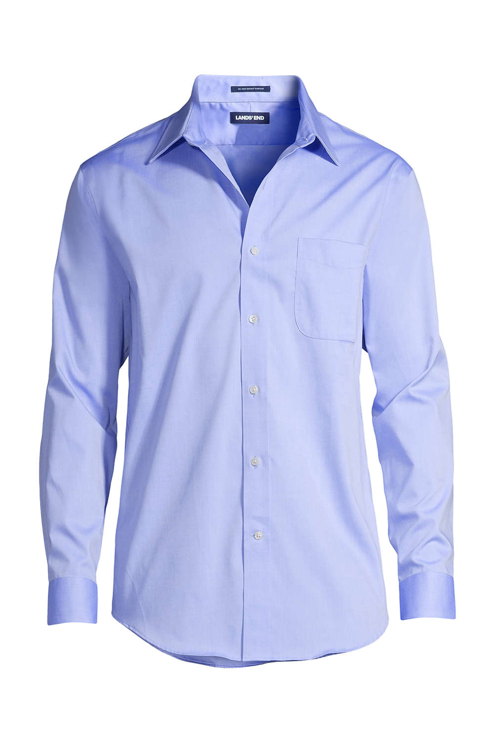 Men S Solid No Iron Supima Pinpoint Straight Collar Dress Shirt From