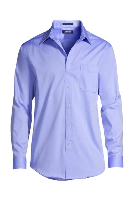 Men's No Iron Traditional Fit Pinpoint Dress Shirt