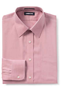 Men's Tall Traditional Fit Solid No Iron Supima Pinpoint Straight Collar Dress Shirt, Front