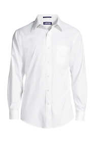 Men's Tall Tailored Fit Solid No Iron Supima Pinpoint Straight Collar Dress Shirt