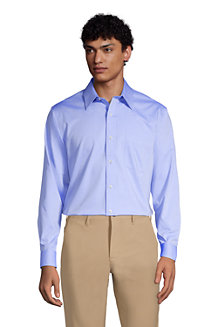Men's Straight Collar Easy-iron Pinpoint Shirt
