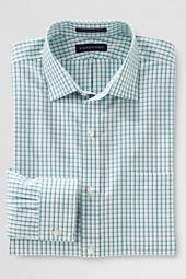 Men's Tailored Fit Pattern No Iron Supima Pinpoint Spread Collar Shirt