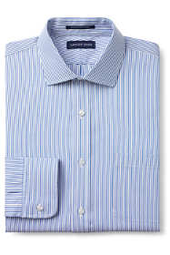 Men's Tailored Fit Pattern No Iron Supima Pinpoint Spread Collar Dress Shirt