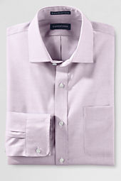 Men's Tailored Fit Solid No Iron Supima Pinpoint Spread Collar Shirt