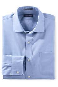 Men's Tailored Fit Solid No Iron Supima Pinpoint Spread Collar Dress Shirt